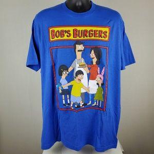 Bob's Burger Blue Family Portrait T-Shirt 2X